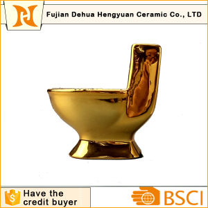 toilet made of gold. Funny Gift of Gold Plating Toilet Shape Ceramic Ashtray China