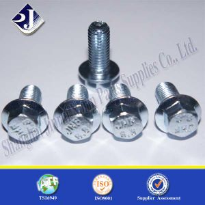 Grade 8.8 Blue-White Zinc Hex Flange Bolt pictures & photos