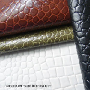 Croco PU Synthetic Leather for Decorative (KC-B029)
