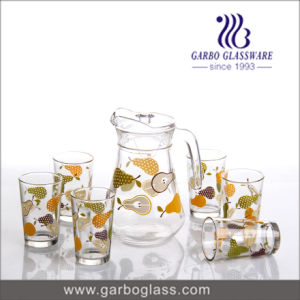 Hotselling Glass Drinking Set with Fansion Printing pictures & photos