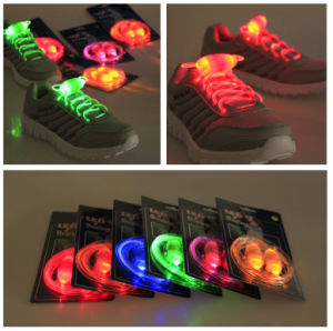Disposable Colored Flashing LED Round Shoes Parts and Nylon Laces pictures & photos