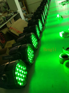 Waterproof 54*3W RGBW LED Outdoor PAR for DJ Disco Stage with Ce&RoHS pictures & photos