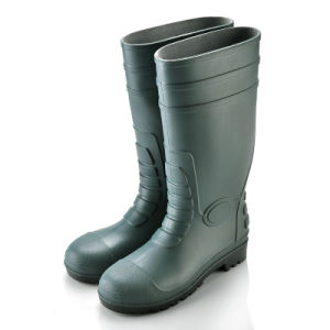 Rain Boot with Safetoe (JK46507-Green) pictures & photos