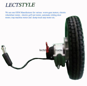 8 Inch Brushless Geared Wheelchair Hub Motor with Electro Magentic Brake & Joystick Lever pictures & photos