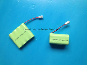 NiMH Rechargeable Battery Pack 4.8V AA (2500mAh) pictures & photos