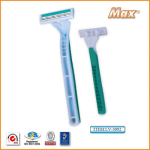 Triple Blade Stainless Steel Blade Disposable Shaving Razor (LV-3092) pictures & photos