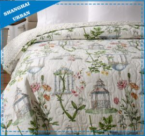 British Pavilion Printed Polyester Quilted Bedspread Set pictures & photos