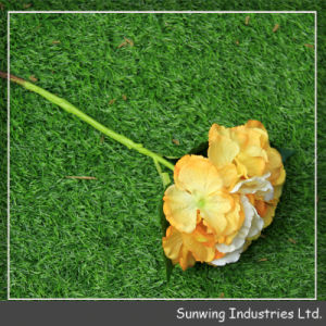 Long Stem Artificial Silk Roses Flower Wedding Bouquet Peony pictures & photos