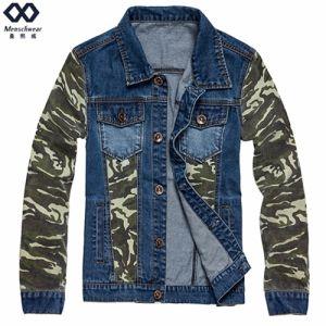 Spliced Men Demin Jacket Ready Made Fashion Coat