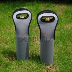 Custom Tote Neoprene Wine Bottle Holder Cooler Bag (BC0028) pictures & photos