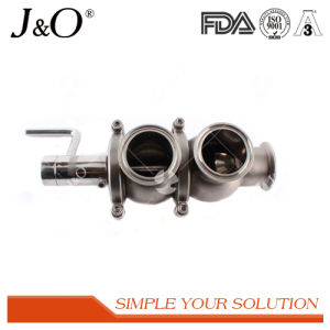 Sanitary Double Seat Mixproof Valve with Intelligent Head pictures & photos