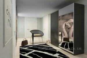 UV High Gloss & Mirror Sliding Door Bedroom Wardrobe (HF-EY029) pictures & photos