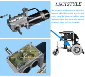 24V 250W Left & Right Gear Wheelchair Motor with Controller & Joystick Lever pictures & photos