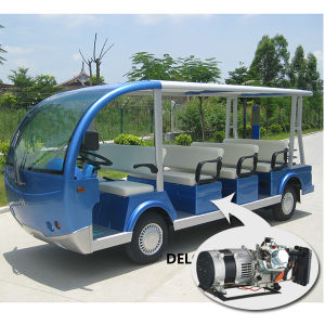 Hybrid Generator Electric Bus Electric Sightseeing Bus (Del6112k) pictures & photos