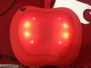 Electric Apple Shape Car Neck and Back Shiatsu Massage Pillow pictures & photos