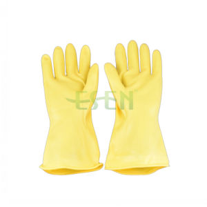 DIP Flick Lined Spray Flock Lined Latex Hosuehold Gloves, Rubber Household Gloves, Household pictures & photos