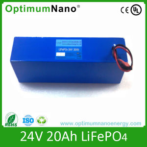 24V 20ah Lithium Li-ion LiFePO4 Battery for Wheel Chair pictures & photos