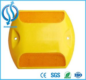 Yellow and White Reflective Plastic Road Stud Reflector pictures & photos