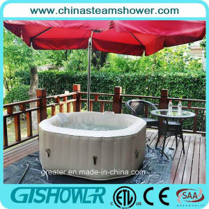 4 Person Bubble Massage Inflatable Hot Tub (pH050013-N Coffee) pictures & photos