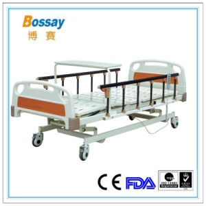 Made in China Electric Hospital Bed with Over Bed Table pictures & photos