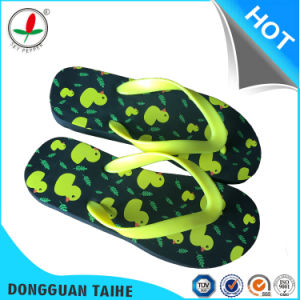 High Quality Black EVA Flip Flops pictures & photos