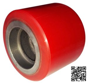 60mm Red PU Forklift Caster Wheel pictures & photos