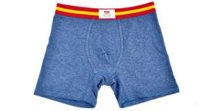 100% Cotton Underwear Boxer Brief Men 248-Blue pictures & photos