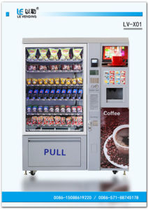 Snack/Cold Drink Vending Machines Coin Operated Coffee Machine (LV-X01) pictures & photos