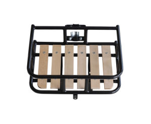 with Beechwood Plate Steel Bicycle Front Carrier for Bike (HCR-128) pictures & photos