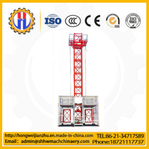 Sc200/200 Double Cages Construction Hoist, New or Used Construction Elevator pictures & photos