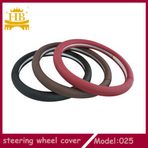 Eco-Friendly Decorated Genuine Leather Car Steering Wheel Cover