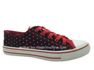 Wholesale Ladies Young Style Casual Canvas Shoe (D278-L) pictures & photos