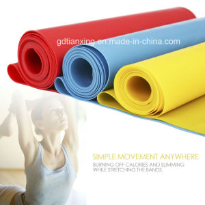 Yoga Exercise Use Fitness Elastic Band in Roll pictures & photos