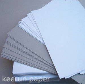 One Side White Coated Duplex Board with Grey Back