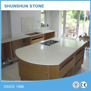 White Quartz Stone for Kitchen Benchtop or Lobby Counter Top pictures & photos