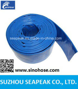 Green PVC Layflat Hose for Agriculture Irrigation pictures & photos