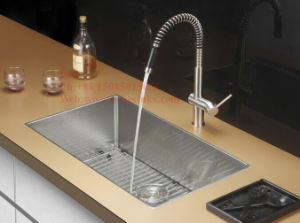 18X32-1/2 Inch Stainless Steel Radius Under Mount Single Bowl Kitchen Sink pictures & photos
