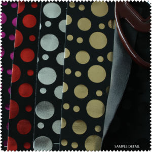 Circle Pattern Nubuck Backing PU Leather for Shoe (S183090NB) pictures & photos