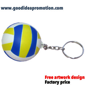PU Antistress Ball with Key Chain pictures & photos