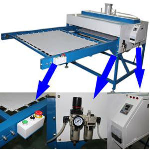 Large Format Pneumatic Heat Press for Sublimation Tshirt Fabric