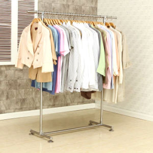 All Metal Single Rod Telescopic Clothes Hanger pictures & photos