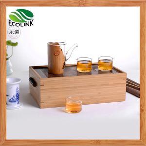 Portable Glass Tea Set with Bamboo Tea Box pictures & photos