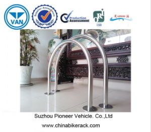 U Stainless Steel Bicycle Parking Rack 2 Bikes Capacity pictures & photos