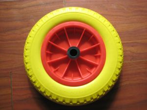 Polyurethane Solid Wheel with Plastic Rim