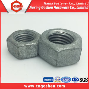 Grade 8 M42 Hot DIP Galvanized DIN934 Heavy Hex Nut pictures & photos