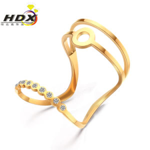 Stainless Steel Rings Ladies Rings Fashion Jewelry Diamond Ring (hdx1152) pictures & photos