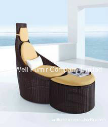 PE Rattan Wicker Furniture/Outdoor Lounge Chair/ Rattan Sofa pictures & photos