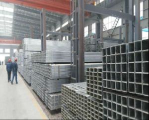 Building Material Q235 Zinc Coated Galvanized Square Steel Pipe/Tube pictures & photos