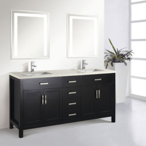 Fancy Bathroom Cabinet with LED Illuminated Mirror