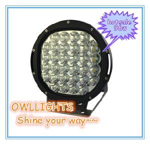 Auto Parts for Jeep Wrangler 4X4 Accessories 96W LED Driving Lights Round Toshiba Cr Ee LED Spotlights 4WD 96W LED Driving Light